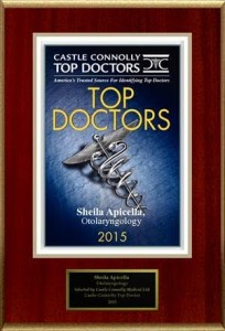 Castle Connolly Top Doctor Plaque 2015